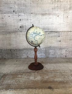 Small World Globe Vintage World Globe with by TheDustyOldShack