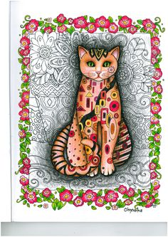 creative cats, colouring is my new hobby