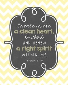 bible ve rss about the heart | Printable Bible Verse Decor: Clean Heart « Kimberly Geswein ... | Bib ...