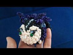かぎ編みで編む(Only hook)ツムツム(TsumTsum)マレフィセント(Maleficent)レインボールーム(Rainbow loom) - YouTube