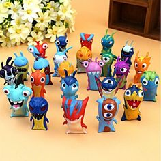 24 x Slugterra Elemental Slugs Toys Slug Terra Action Figure Doll S Cartoon Set #unbranded