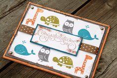 Congratulations card, baby boy card,
