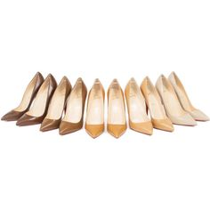 Louboutin Expands the Colors of the 'Nude' Shoe ❤ liked on Polyvore featuring shoes y decor