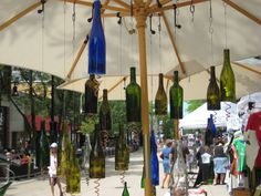 Farmer's Market, Madison, WI    I have one of these wine bottle candle holders hanging in my kitchen!