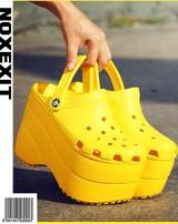 tall platform crocs