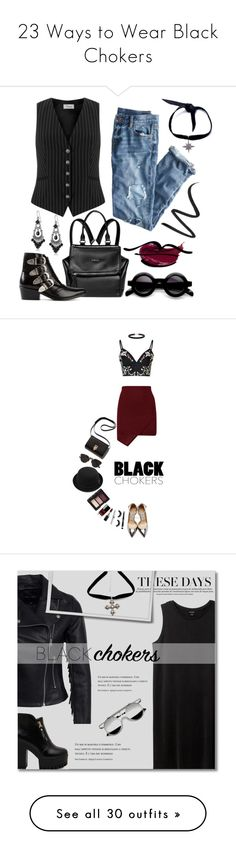 """""""23 Ways to Wear Black Chokers"""" by polyvore-editorial ❤ liked on Polyvore featuring waystowear, blackchoker, Temperley London, J.Crew, Child Of Wild, Givenchy, Eyeko, Toga, 1928 and Glamorous"""