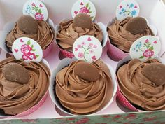 Triple Chocolate Rose Cupcakes
