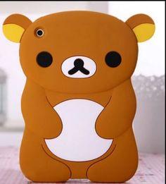 Cute Lovely Teddy Bear Silicone Soft Skin Case Cover for iPad Mini 3 2 1 Cute Ipad Cases, Ipad Mini Cases, Ipad Mini 3, Mini Teddy Bears, Bear Cartoon, Skin Case, Skin So Soft, 3d, Cover