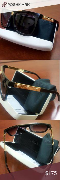 Authentic Versace Medusa Head Framed Sunglasses Versace Medusa Head Gold Metal Framed Dark Sunglasses Versace Accessories Sunglasses