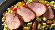 Tex-Mex Rubbed Pork Tenderloins with Corn and Tomato Salsa