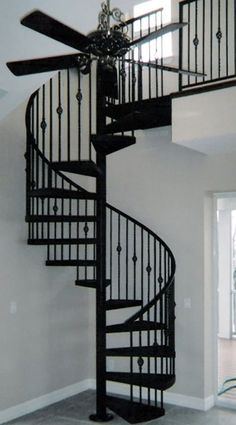 Using a spiral staircase inside the house can conserve a great deal of area. In Spiral Staircase area conserve deal Great House spiral staircase Spiral Staircase Kits, Staircase Outdoor, Spiral Stairs Design, Rustic Staircase, Modern Staircase, Staircase Design, Spiral Staircases, Staircase Ideas, Tree House Designs