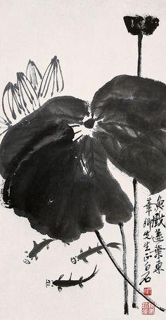 Qi Baishi's Lotus | Chinese Painting | China Online Museum