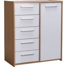 Buy HOME New Sywell 5 Drawer 1 Door Chest - Oak Effect and White at Argos.co.uk, visit Argos.co.uk to shop online for Chest of…