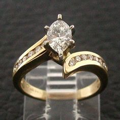 Marquise Diamond Butterfly Vintage Engagement Ring setting Tying
