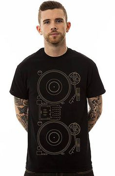 The Chuck Inglish x Turntable Tee in Black by Music Merch