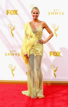 LOS ANGELES, CA - SEPTEMBER 20:  TV personality Heidi Klum attends the 67th Annual Primetime Emmy Awards at Microsoft Theater on September 20, 2015 in Los Angeles, California.  (Photo by Mark Davis/Getty Images) (Foto: Getty Images)