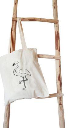Canvas totes - Flamingo - Een uniek product van Kleur-Design op DaWanda