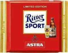 RITTER SPORT Fake Schokolade Astra Bier