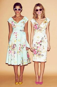 Get Summer time ready in our range of pretty blooms #fashion #style #SS15 #print #pattern #floral #pastels #mint #cream #pink #chic #elegant #retro #vintage #theprettydress #theprettydresscompany