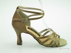 Elegant Dance Ladies Dance Shoes (Classic): Latin Shoes(Open Toe) M1101-01_TanJS