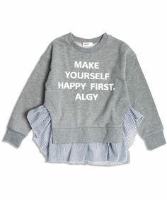 【ZOZOTOWN】ALGY(アルジー)のスウェット「ぷっくりロゴ裾フリルトレーナー」(G411926)を購入できます。