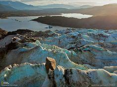 Glacier Mendenhall, près de Juneau en Alaska