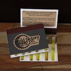 Natural Perfume Oil Sampler Set