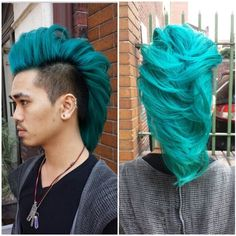 that Meyers Meyers McMillan styled on Hair Inspo, Hair Inspiration, Manic Panic Hair, Semi Permanent Hair Color, Hot Hair Styles, Unique Hairstyles, How To Make Hair, Blue Hair, Hair Pieces