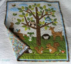 boogaloo: Forest Friends Baby Quilt