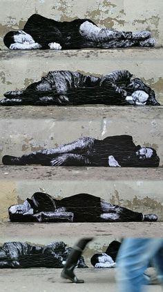 Artist :Levalet...Avenue Jean Aicard 75011