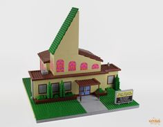This guy is building the entire city of. - The LEGO collection Simpsons Toys, The Simpsons, Legos, Lego Memes, Lego Craft, Lego Modular, Lego Toys, Cool Lego Creations, Lego Worlds