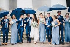 Image result for dusty blue wedding