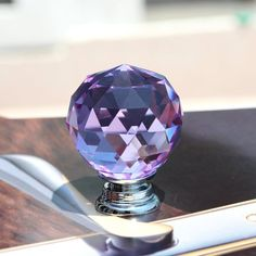New Purple Crystal Cabinet Drawer Knob Wardrobe Glass Handle Kitchen Cabinet Knobs Shoesbox Handle Wine Cabinet Pull Glass Drawer Knobs, Glass Dresser, Kitchen Cabinet Handles, Dresser Knobs, Knobs And Handles, Knobs And Pulls, Drawer Pulls, Purple Cabinets, Glass Cabinets