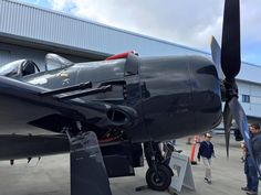 """Grumman F8F-2A Bearcat """"Wampus Cat""""  The F8F-2 had upgraded armament (from the earlier four .50 cal. machine guns in the F8F-1) of four 20 mm M3 cannons mounted in the wings and could carry 1,000 lbs. of bombs or four 5"""" un-guided rockets."""