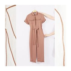 The Rose Taupe Tie Waist Jumpsuit is our outfit choice of the week.  Style it casual for a perfect weekend look.   #minimal #jumpsuit #studio #artdirection #fashion #branding #ideas