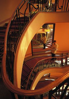 Famous staircase at the Hotel Martinez in Cannes