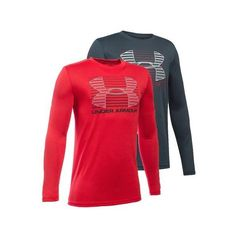 Your future tennis star will love to warm up in the Under Armour Boys' Breakthrough Logo Long Sleeve Tee. This hot ticket item features a subtle graphic at the front fit for an athlete. UA Tech fabric is quick-drying, ultra-soft, and has a more natural feel so your little one will be comfortable during long training days.