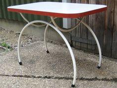 Art Deco vintage geometric rectangular Formica kitchen breakfast dining table