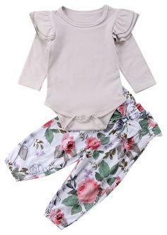 799518780b66 Gray Floral Set. Baby Girl FashionToddler ...