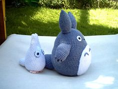 Ravelry: White and small Blue Totoro amigurumi pattern by Lucy Collin