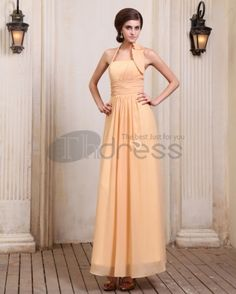 Long Evening Dresses-New Designer Chiffon Ruffles Floor Length Evening Dresses