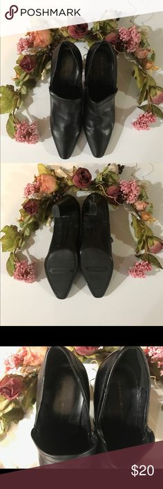 """🐿Bandino black heel EUC 3"""" heel, heels in great shape, 8.5. These are perfect witchy poo heels! Love 'em! 🐶🚭 Bandolino Shoes"""