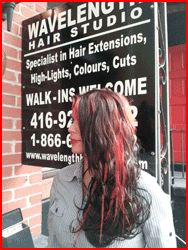 Fusion hair extension client from our  salon