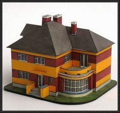 1920s European Villa Free Building Paper Model Download - http://www.papercraftsquare.com/1920s-european-villa-free-building-paper-model-download.html