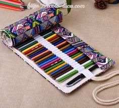 Portable Pencil Case 36/48/72 Roll up Bag