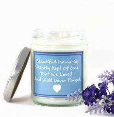 Beautiful Memories... Scented Soy Candle | Aromatherapy Candle | In Loving Memory | Remembrance Gift | Memorial | Condolence | With Sympathy