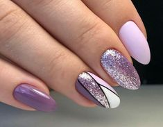 Most up-to-date Cost-Free Nail Art Glitter line Ideas Then clothes, tresses as well as shoes and boots, the subsequent stylish merchandise is actually nai Purple And Pink Nails, Purple Glitter Nails, Purple Nail Art, Purple Nail Designs, Glitter Nail Art, Nail Art Diy, Acrylic Nail Designs, Nail Art Designs, Purple Nails With Design