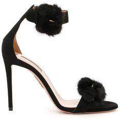 f4477a15154 Suede Sinatra 105 Sandals - Aquazzura Black Heels Fringes