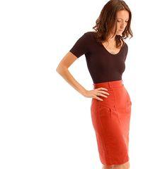 vintage 70s rust red pencil skirt. $37.00, via Etsy.