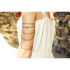 Armlet Slave Bracelet Arm Bracelet Hipster Body Gypsy Jewelry Piece... ($17) ❤ liked on Polyvore